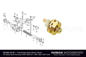 TURBOCHARGER BOOST PRESSURE SWITCH- ELE93060610100