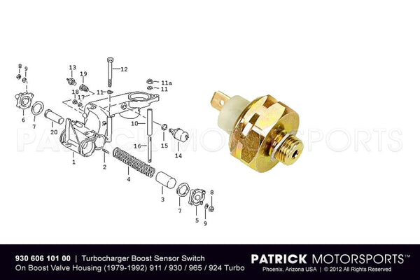 Turbocharger Boost Pressure Switch ELE 930 606 101 00 / ELE 930 606 101 00 / ELE-930-606-101-00 / ELE.930.606.101.00 / ELE93060610100