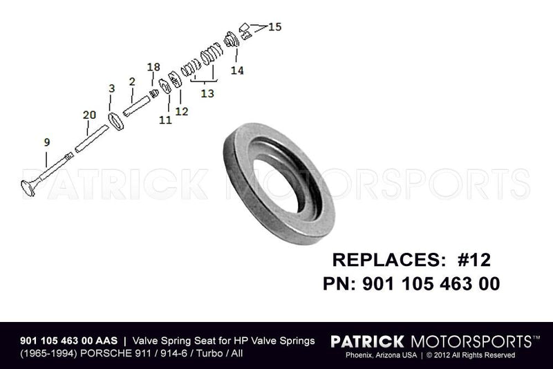 VALVE SPRING SEAT FOR HP ENGINE VALVE SPRINGS- ENG90110546300AAS