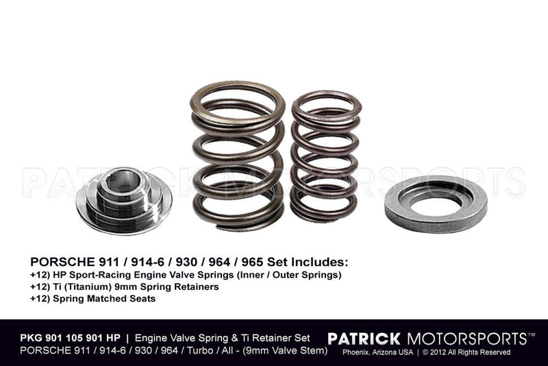 Engine Valve Spring and Retainer Set Hp - 9mm Titanium - Porsche 911 914 930 964 ENG 901 105 901 HP PMS / ENG 901 105 901 HP PMS / ENG-901-105-901-HP-PMS / 901.105.901.HP / 901105901HP