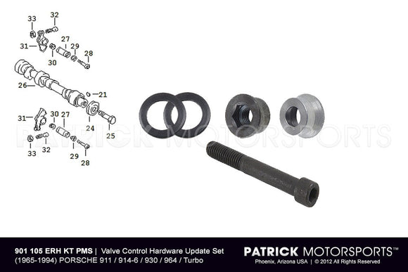 ENGINE VALVE CONTROL HARDWARE UPDATE SET WITH RSR ROCKER ARM O-RING SEALS - PORSCHE 911 / 914-6 / 930 / 964 / TURBO- ENG901105ERHKTPMS