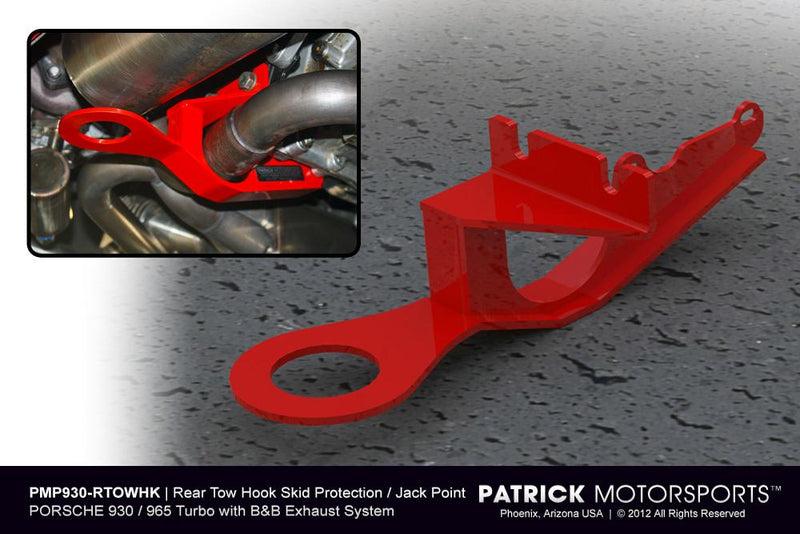 Porsche 911 / 930 / 965 Rear Bumper Tow Hook Jack Point With Skid Protection Plate ENG 901 115 014 RTH PMS / ENG 901 115 014 RTH PMS / ENG-901-115-014-RTH-PMS / ENG.901.115.014.RTH.PMS / ENG901115014RTHPMS