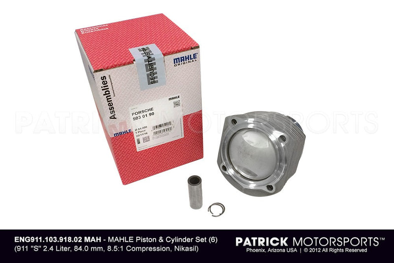Mahle Engine Piston And Cylinder Set 6 / Porsche 911 S 2.4L 84mm 8.5 ENG 911 103 918 02 MAH / ENG 911 103 944 01 MAH / ENG-911-103-944-01-MAH / ENG.911.103.944.01.MAH / ENG91110394401MAH