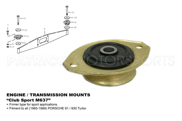 ENGINE MOUNT - PORSCHE 911 -930 CLUB SPORT M637- ENG91137504307