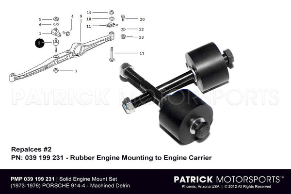 ENGINE MOUNT SET - SOLID TYPE 914-4- ENG914039199231PMP