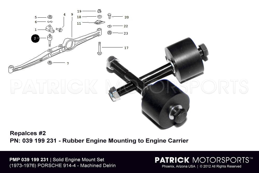 ENG 914 039 199 231 PMP: ENGINE MOUNT SET - SOLID TYPE 914-4