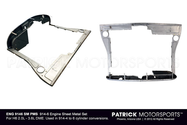 ENGINE SHEET METAL SET - PORSCHE 914-6 CONVERSION - RAW- ENG9146SMWHRAWPMP