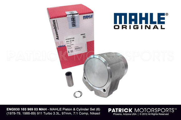 Mahle Engine Piston And Cylinder Set 6 / - 1978 - 79, 1986 - 89 3.3L Turbo ENG 930 103 969 03 MAH /   930 103 969 03  / 930-103-969-03 / 930.103.969.03 / 93010396903