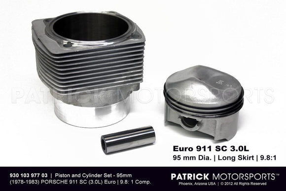 Mahle Engine Piston And Cylinder Set Porsche 911 SC 3.0L Euro 95mm ENG 930 103 977 03 MAH / ENG 930 103 977 03 MAH / ENG-930-103-977-03-MAH / ENG.930.103.977.03.MAH / ENG93010397703MAH