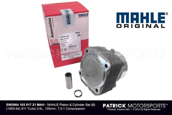 Mahle Engine Piston And Cylinder Set 6 / - 1993 - 94 3.6L Turbo ENG 964 103 917 21 MAH / ENG 964 103 917 21 MAH / ENG-964-103-917-21-MAH / ENG.964.103.917.21.MAH / ENG96410391721MAH / 964 103 917 21/ 964-103-917-21 / 964.103.917.21 / 96410391721