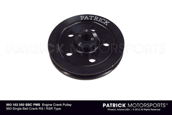 ENGINE CRANK PULLEY - 993 SINGLE BELT CRANK RS / RSR TYPE- ENG993102050SBCPMS