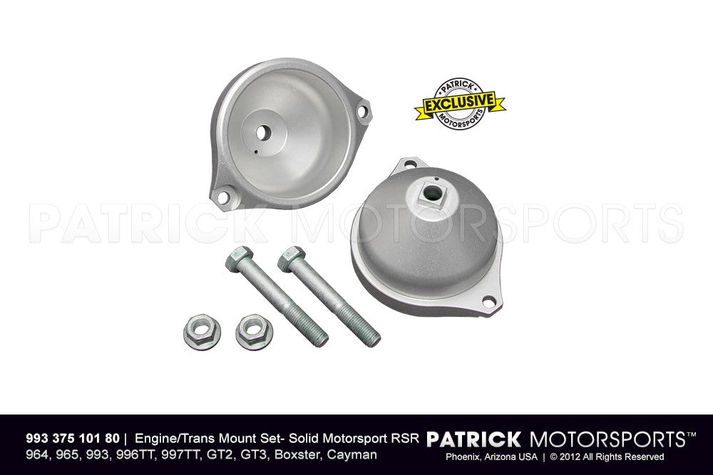 ENG 993 375 101 80: ENGINE / TRANSMISSION MOUNT SET - SOLID MOTORSPORT RSR - 964 / 965 / 993 / 996TT / 997TT / GT2 / GT3 / BOXSTER / CAYMAN