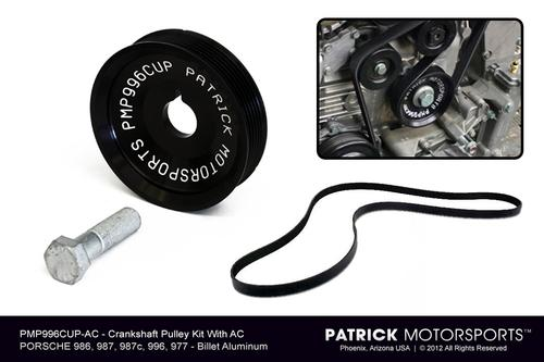 ENG 996 102 CUP AC PMS: ENGINE CRANK SHAFT PULLEY KIT - 996 997 986 987 - (FOR CARS WITH AC)