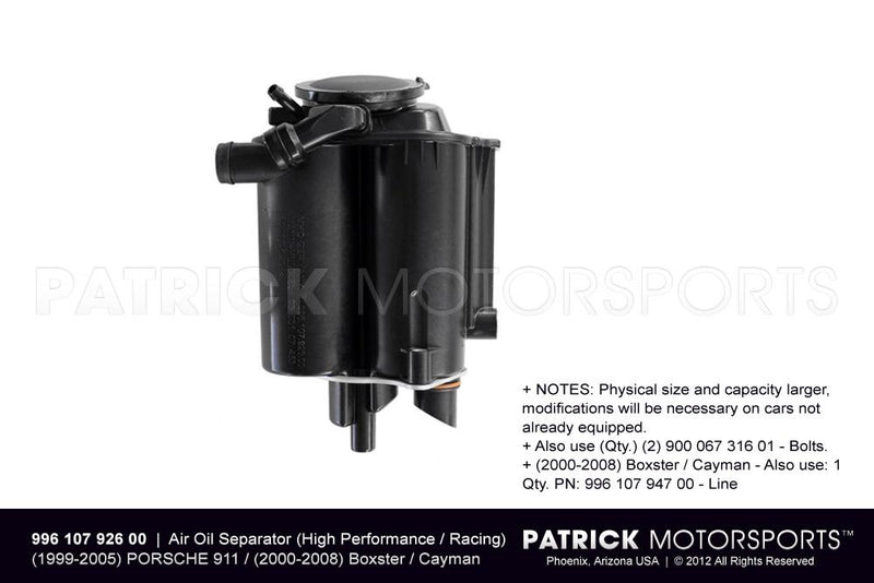 AIR OIL SEPARATOR (HIGH PERFORMANCE / RACING VERSION)- ENG99610792600