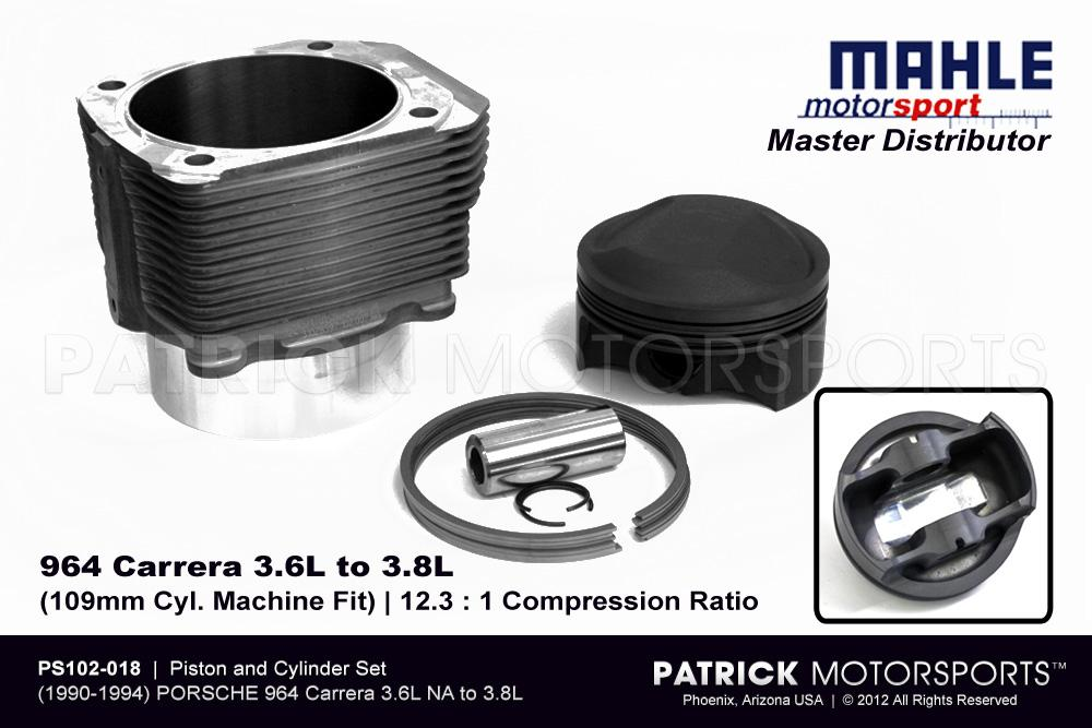 ENG PS102 018: PISTON & CYLINDER SET - 964 3.6L TO 3.8L NA | MACHINE FIT MAHLE MOTORSPORTS