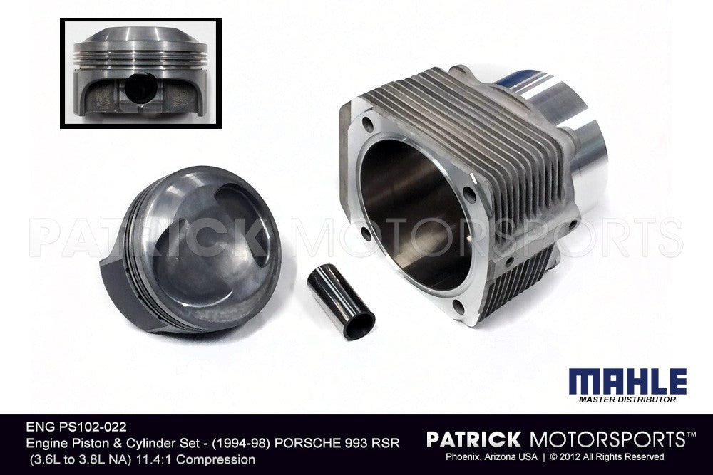 ENG PS 102 022: ENGINE PISTON & CYLINDER SET - PORSCHE 993 RSR (3.6L TO 3.8L NA)