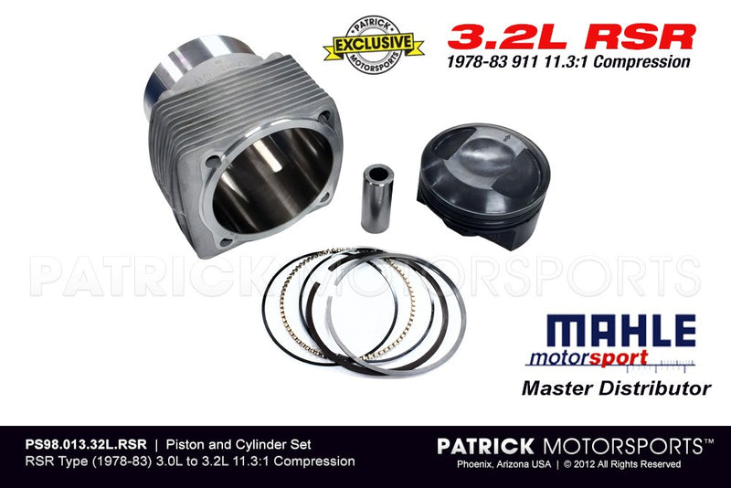 Mahle Motorsport Porsche 911 RSR Type 3.0L To 3.2L Conversion 98mm Engine Piston And Cylinder Set - Naturally Aspirated - 11:3 High Compression ENG PS98 013 32L RSR / ENG PS98 013 32L RSR / ENG-PS98-013-32L-RSR / ENG.PS98.013.32L.RSR / ENGPS9801332LRSR / PS98 013 32L RSR / PS98-013-32L-RSR PS98.013.32L.RSR / PS9801332LRSR