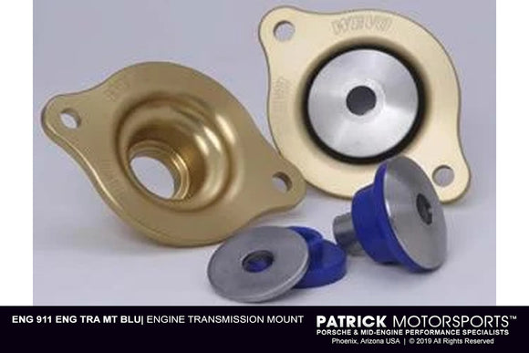 Engine Transmission Mount - Porsche 911 - 915 - 930 Semi Solid - Blue Pillow Bushings Wevo (ENG 911 ENG TRA MT BLU)