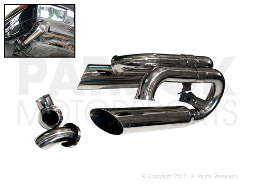 EXHAUST MUFFLER BYPASS RESONATOR SET- EXH993SUPCUP