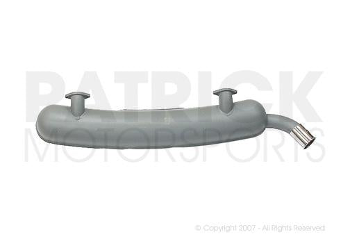 EXHAUST MUFFLER - (1974) PORSCHE 911 / 2.7L - GREY PAINTED STAINLESS STEEL- EXH91111102501PRSDAN