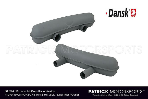 EXHAUST SILENCER MUFFLER - RACE VERSION - 914-6- EXH92214