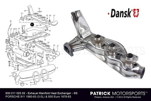 Exhaust Headers With Heat Exchanger Set EXH 930 211 025 02 DAN / EXH 930 211 025 02 DAN / EXH-930-211-025-02-DAN / EXH.930.211.025.02.DAN / EXH93021102502DAN