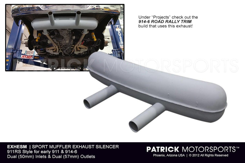 Porsche 911 RS Sport Exhaust Muffler For Early 911 / 914-6 GT EXH ESM / EXH ESM / EXH-ESM / EXH.ESM / EXHESM