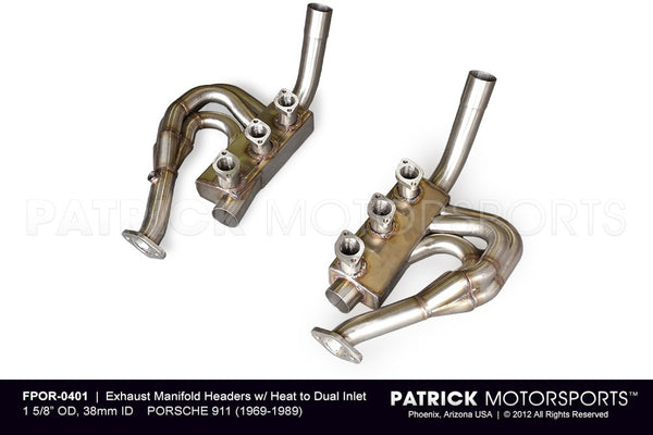 "1 5/8"" EXHAUST HEADERS / MANIFOLDS / HEAT EXCHANGER SET- PATRICK MOTORSPORTS USA / B & B EXHAUST - PART NUMBER- EXHFPOR0401"