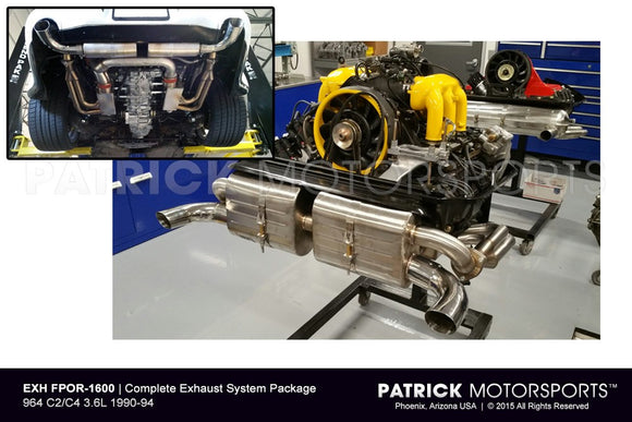 EXHAUST SYSTEM PACKAGE - (1990-1994) PORSCHE 964 CARRERA 2 / C4- EXHFPOR1600
