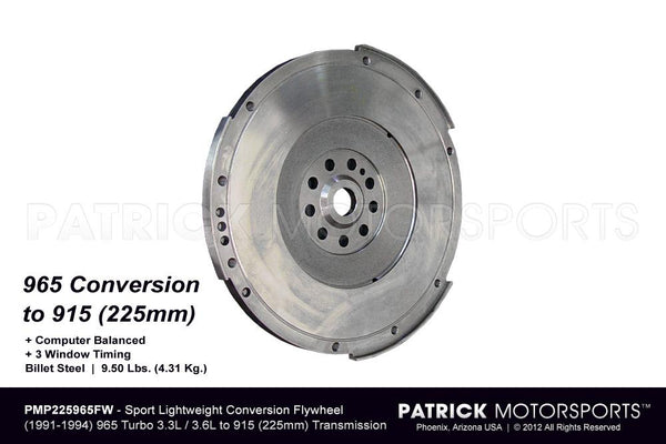 FLYWHEEL - 225MM CONVERSION 901 / 915 FOR 964 965 TURBO 3.3L - 3.6L- FLW225965FWPMP