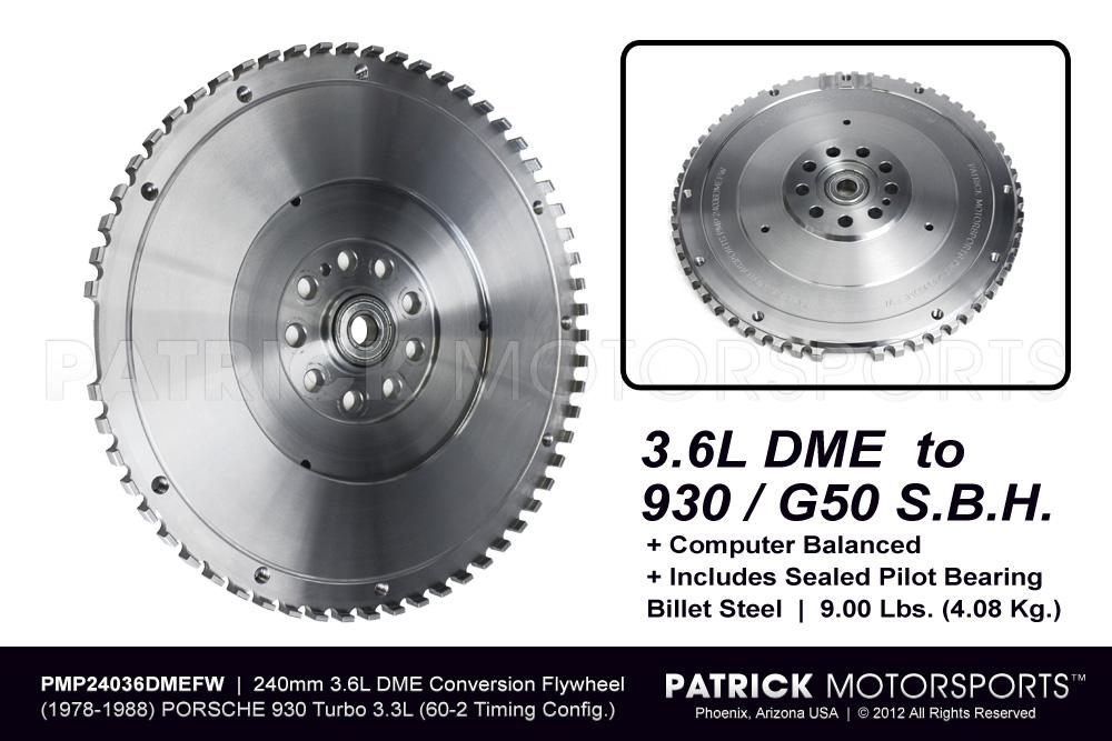 FLW 24036DMEFW PMP: FLYWHEEL - 911 930 SPORT LIGHTWEIGHT 3.6L DME / G50 SBH CONVERSION - 240MM