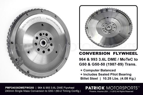PORSCHE 911 G50 FLYWHEEL CONVERSION TO 964 993 3.6L DME 240MM- FLW24036DMEFWG50PMP