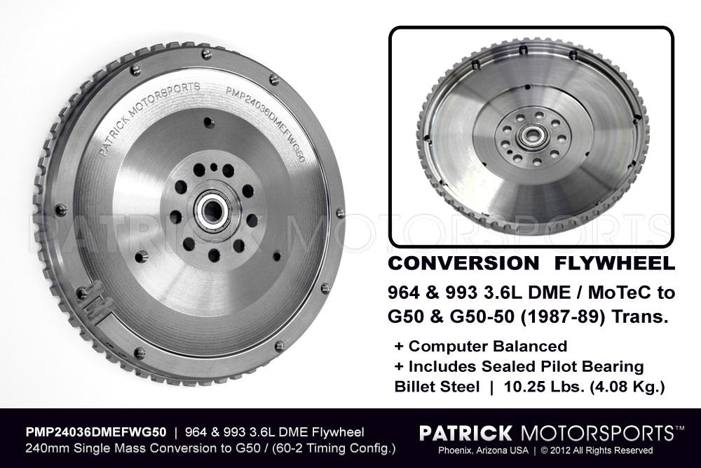 FLW 24036DMEFWG50 PMP: 911 G50 FLYWHEEL CONVERSION TO 964 993 3.6L DME 240MM