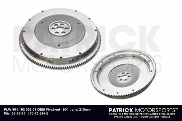 Porsche 911 / 914 901 Transmission 6 Bolt 215mm Flywheel (FLW 901 102 026 01)