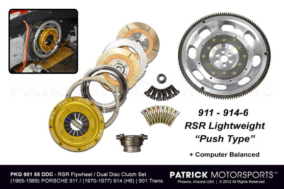 901 RSR FLYWHEEL & 5.50 IN DUAL DISC CLUTCH PACKAGE- FLW90155DDCPMS