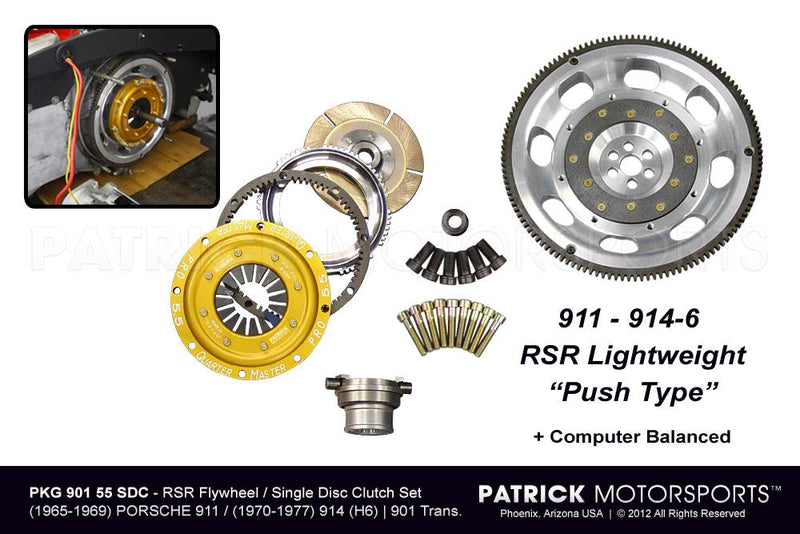 901 RSR Flywheel & Clutch Package - 5.50 Inch Single Disc (PKG 901 55 SDC PMS)