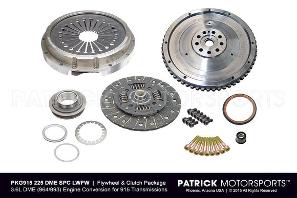Porsche 915/901 Transmission To 964 / 993 3.6L DME Engine Conversion Flywheel and Clutch Package PKG 915 225 DME SPC LWFW PMS / PKG915 225 DME SPC LWFW PMS/ PKG915-225-DME-SPC-LWFW-PMS / PKG915.225.DME.SPC.LWFW.PMS / PKG915225DMESPCLWFWPMS