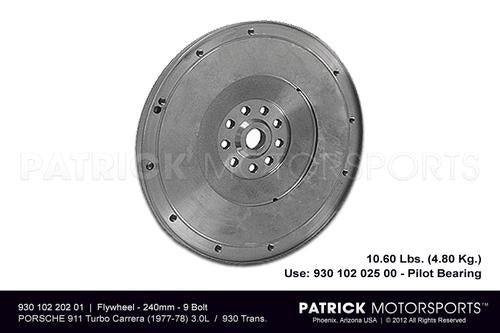 Porsche 911 / Early 930 Turbo 930 Transmission 240mm Flywheel FLW 930 102 202 01 / FLW 930 102 202 01 / 930-102-202-01 / 930.102.202.01 / FLW93010220201 / 93010220201