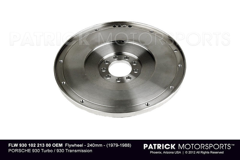 FLYWHEEL - 240MM - (1979-1988) PORSCHE 930 TURBO / 930 TRANSMISSION- FLW93010221300OEM