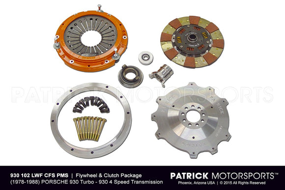 Porsche 930 Turbo / 911 Turbo 240mm RSR Lightweight Flywheel and Clutch Package - Centerforce PKG 930 102 LWF CFS PMS / PKG 930 102 LWF CFS PMS / PKG-930-102-LWF-CFS-PMS / PKG.930.102.LWF.CFS.PMS / PKG930102LWFCFSPMS