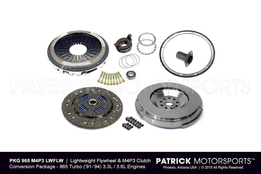 PKG 965 M4P3 LWFLW: 964 TURBO LIGHTWEIGHT FLYWHEEL AND SPORT CLUTCH CONVERSION PACKAGE