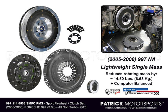 997 FLYWHEEL & CLUTCH PACKAGE - SPORT SINGLE MASS 997 CARRERA NA- FLW9971140508SMFCPMS