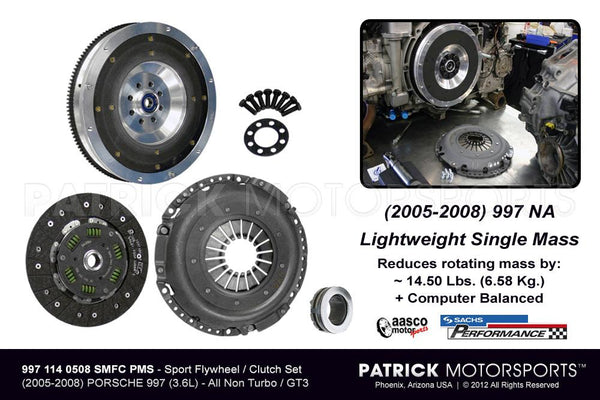 997 Flywheel and Clutch Package - Sport Spec Single-Mass 997 Carrera Na FLW 997 114 0508 SMFC PMS / FLW 997 114 0508 SMFC PMS / FLW-997-114-0508-SMFC-PMS / FLW.997.114.0508.SMFC.PMS / FLW9971140508SMFCPMS