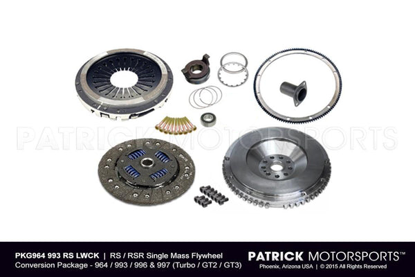 964 / 993 Euro RS Lightweight Single - Mass Flywheel & Clutch Conversion Package (PKG 964 993 RS LWCK PMS)