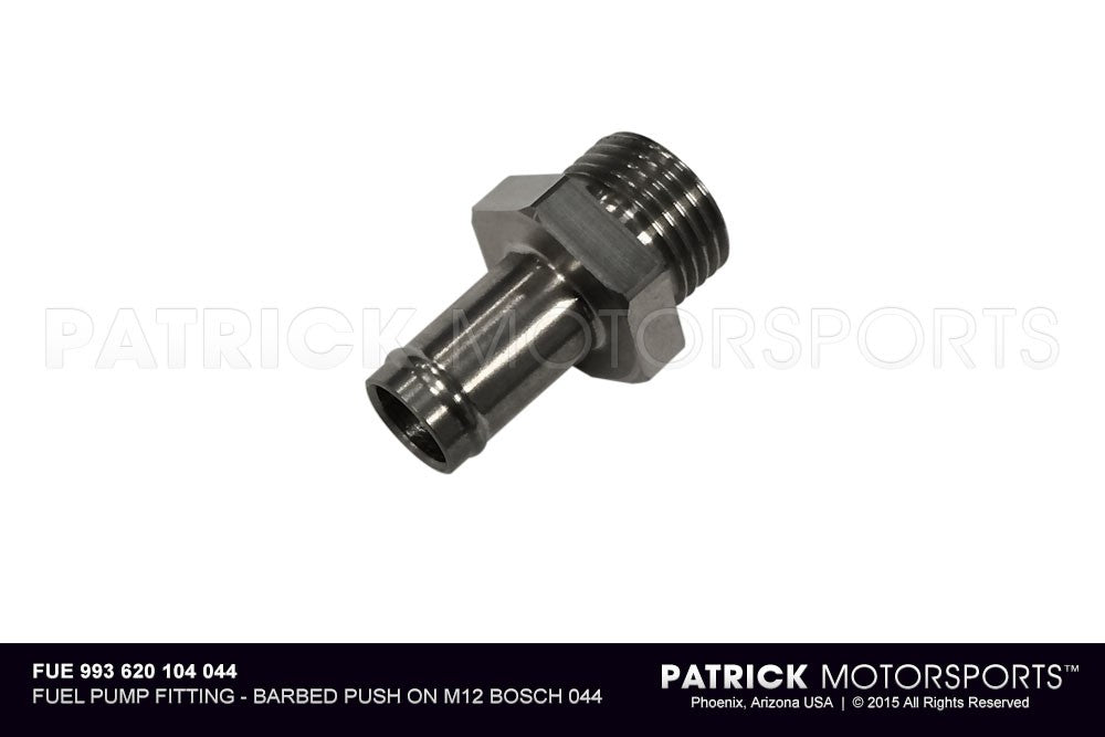 FUE 993 620 104 044: FUEL PUMP FITTING - BARBED PUSH ON M12 BOSCH 044