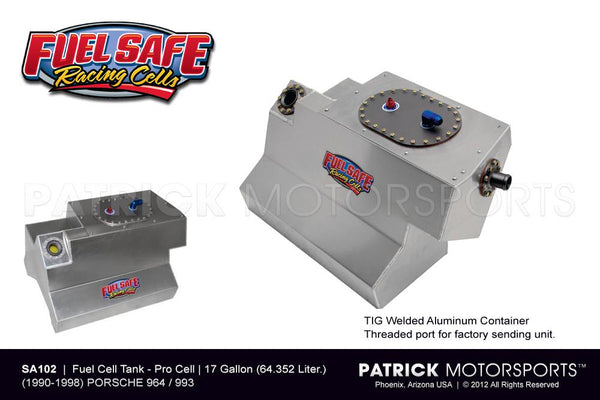FUEL CELL TANK 17 GALLON - PORSCHE 911 / 964 & 993 FUEL SAFE - CENTER FILL- FUESA102CF