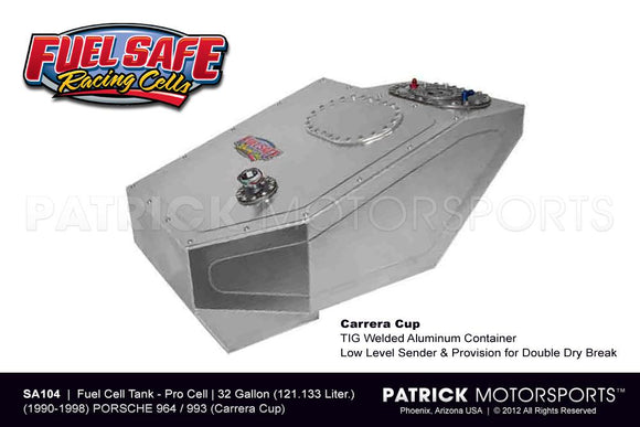FUEL CELL TANK 32 GALLON - PORSCHE 911 / 964 & 993 CARRERA CUP FUEL SAFE- FUESA104