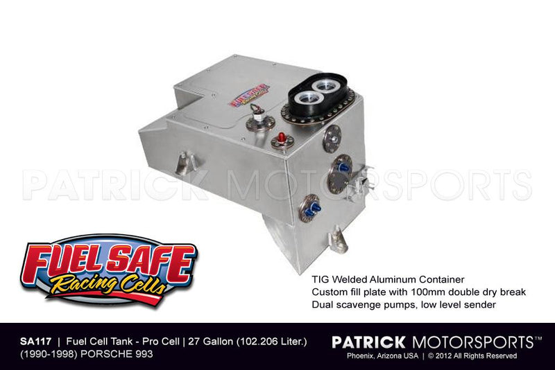 FUEL CELL TANK 27 GALLON - PORSCHE 911 / 993 FUEL SAFE- FUESA117