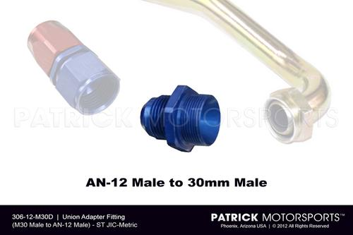 HAR 306 12 M30D : UNION ADAPTER FITTING (M30 MALE TO AN-12 MALE)