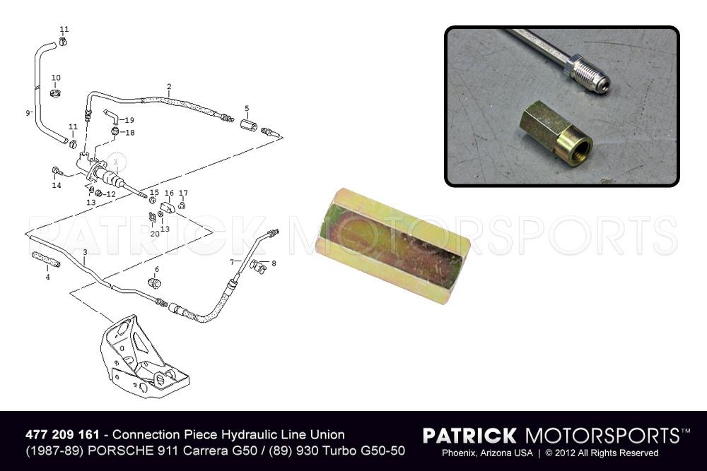 HAR 477 209 161 PMP: CONNECTION PIECE UNION CLUTCH PIPELINE AT MASTER CYLINDER G50 PEDAL ASSEMLBY